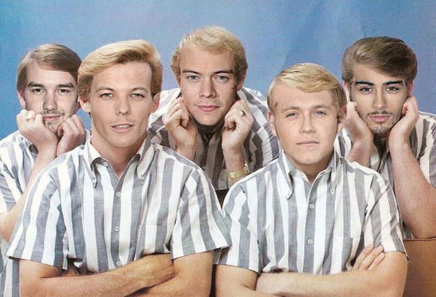One Direction as Beach Boys