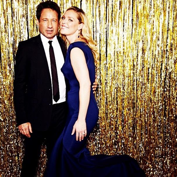 Золотой глобус: Дэвид Духовны и Кэтрин Хейгл