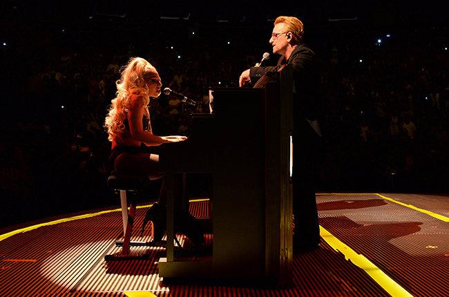 Леди Гага и Боно